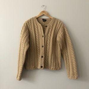J. Crew Hand knit wool cardigan